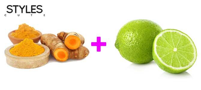 รักษาสิวอักเสบ ด้วยขมิ้นชันและน้ำมะนาว